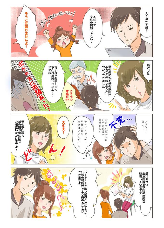 焼津市男性不妊の漫画